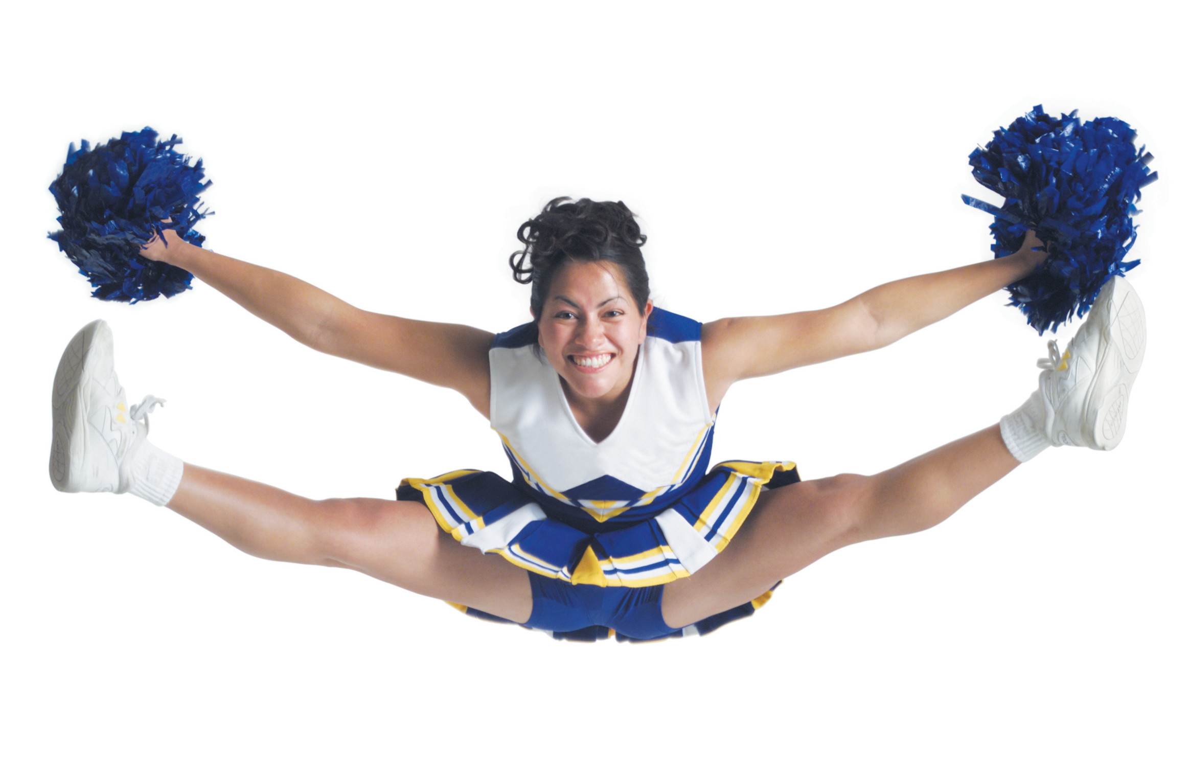 Cheerleading is all about T 'n' A- No. It's all about getting male